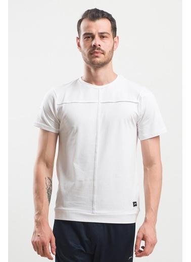 Slazenger Slazenger PONZA Erkek T-Shirt  Beyaz